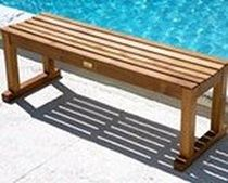 contemporary bench LE SPA TEAK STRAIGHT BENCHES AND STOOLS Infinita Corporation