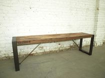contemporary bench in certified wood (FSC-certified) ISIS  BSM