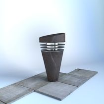 contemporary bollard light for public spaces FORZA Azuly