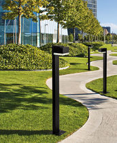 contemporary bollard light for public spaces QUBA SOLO Hacel Lighting