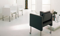 contemporary bridge armchair with casters MOVIE by Giuseppe Bavuso Acamdivani