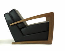 contemporary bridge armchair KUSTOM  bark