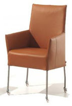 contemporary bridge armchair with casters DEGAS Ghekiere Industries