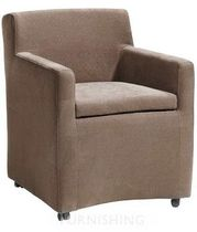 contemporary bridge armchair with casters BIGGY Pmpfurnishing