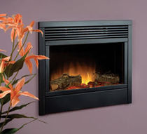 contemporary built-in fireplace (electric closed hearth) ATLANTA Flamerite Fires