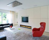 contemporary built-in fireplace (gas closed hearth) CM 015 BLOCH DESIGN