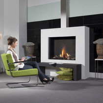 contemporary built-in fireplace (gas closed hearth) Modore 100H Element4 B.V.