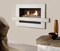 contemporary built-in fireplace (gas closed hearth) FLAMEWAVE Platonic Fireplace