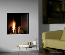 contemporary built-in fireplace (gas closed hearth) PASSEO Platonic Fireplace
