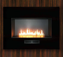 contemporary built-in fireplace (gas closed hearth, vent-free) FIRE RIBBON  SPARK modern fires