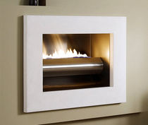 contemporary built-in fireplace (gas open hearth) WINGS OF FLAME Platonic Fireplace