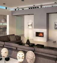 contemporary built-in fireplace (wood-burning closed hearth) NINA  Axis
