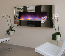 contemporary built-in fireplace (electric closed hearth) ELECTROSCAPE Platonic Fireplace