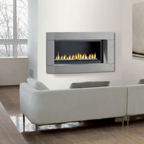 contemporary built-in fireplace (gas closed hearth) LOFT RENE BRISACH