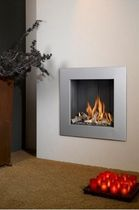 contemporary built-in fireplace (gas closed hearth) VENTO 50 Barbas