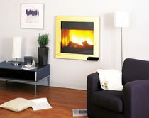 contemporary built-in fireplace (wood-burning closed hearth) CUBICLAITON CHEMINEES PHILIPPE