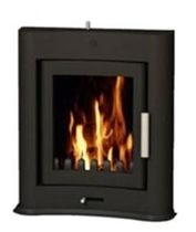 contemporary built-in wood-burning stove EVOLUTION INSET Broseley Fires