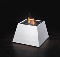contemporary central fireplace (bioethanol open hearth) MAYA finitura bianco perla BRANDONI