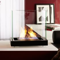contemporary central fireplace (bioethanol open hearth, freestanding) TOP FLAME RADIUS DESIGN