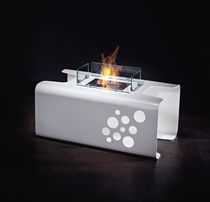 contemporary central fireplace (bioethanol open hearth, freestanding) ESSENTIAL BRANDONI