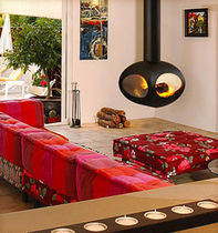 contemporary central fireplace (wood-burning closed hearth) ASTURIANA FLAM N' CO