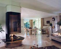 contemporary central fireplace (wood-burning open hearth) CV 017 BLOCH DESIGN