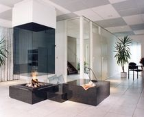 contemporary central fireplace (wood-burning open hearth) CV 022 BLOCH DESIGN