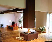 contemporary central fireplace (wood-burning open hearth) CM 006 BLOCH DESIGN