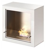 contemporary central fireplace (bioethanol open hearth, freestanding) MAX blu box fireplaces