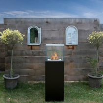 contemporary central fireplace (bioethanol open hearth, freestanding) OUTDOOR COLUMN Bio-Blaze