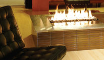 contemporary central fireplace (gas open hearth) LINEAR BURNER  SPARK modern fires