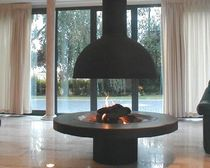 contemporary central fireplace (gas open hearth) 83-123G DON-BAR
