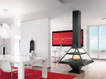 contemporary central fireplace (wood-burning closed hearth) ADMETO  CENTRAL Traforart