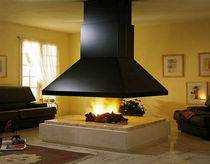contemporary central fireplace (wood-burning open hearth) COGOLIN CHEMINEES PHILIPPE
