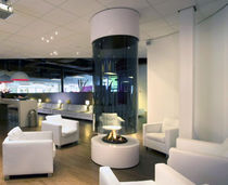 contemporary central fireplace (wood-burning open hearth) CV 024 BLOCH DESIGN