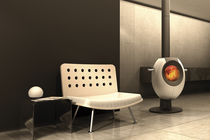 contemporary central wood-burning stove T-EYE by GANN & Gabriela Vetsch André Riemens Tonwerk Lausen AG