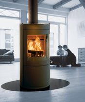 contemporary central wood-burning stove SCAN 50 SCAN
