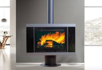 contemporary central wood-burning stove (rotating) SAPHIR Wanders