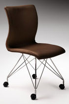 contemporary chair with casters WEIGHTLESS  Haldane Martin