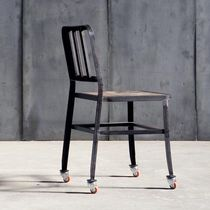 contemporary chair with casters  HEERENHUIS MANUFACTUUR