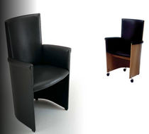 contemporary chair with casters INCONTRO by Lella &amp; M.Vignelli Bernini