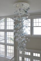 contemporary chandelier BUBBLES ROUND CANOPY Studio Bel Vetro