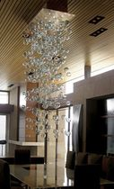 contemporary chandelier BUBBLES CHANDELIER CUSTOM CANOPY Studio Bel Vetro