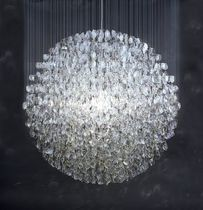 contemporary chandelier in reclaimed material OPTICAL STUART HAYGARTH