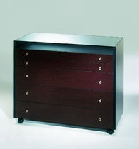 contemporary chest of drawers with casters DOM by Studio Artelano ARTELANO
