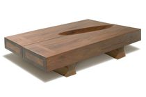 contemporary coffee table in reclaimed wood ELLIPSE Rotsen Furniture