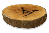 contemporary coffee table in reclaimed wood Pequi Round Wood Slab Coffee Table Rotsen Furniture