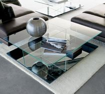 contemporary coffee table with casters 8500 by Cuno Frommherz ROLF BENZ