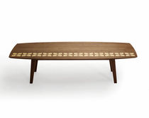 contemporary coffee table in solid wood BEACON bark