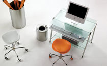 contemporary commercial stool with casters WELCOME by Raul Barbieri REXITE